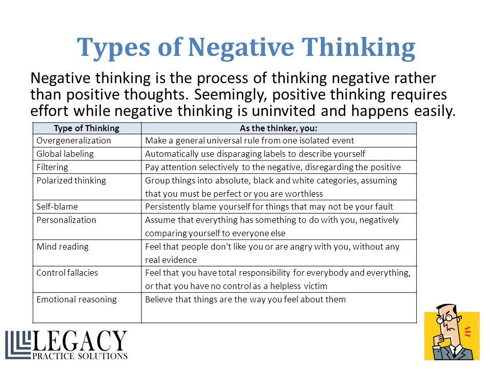 Types of Negative Thinking