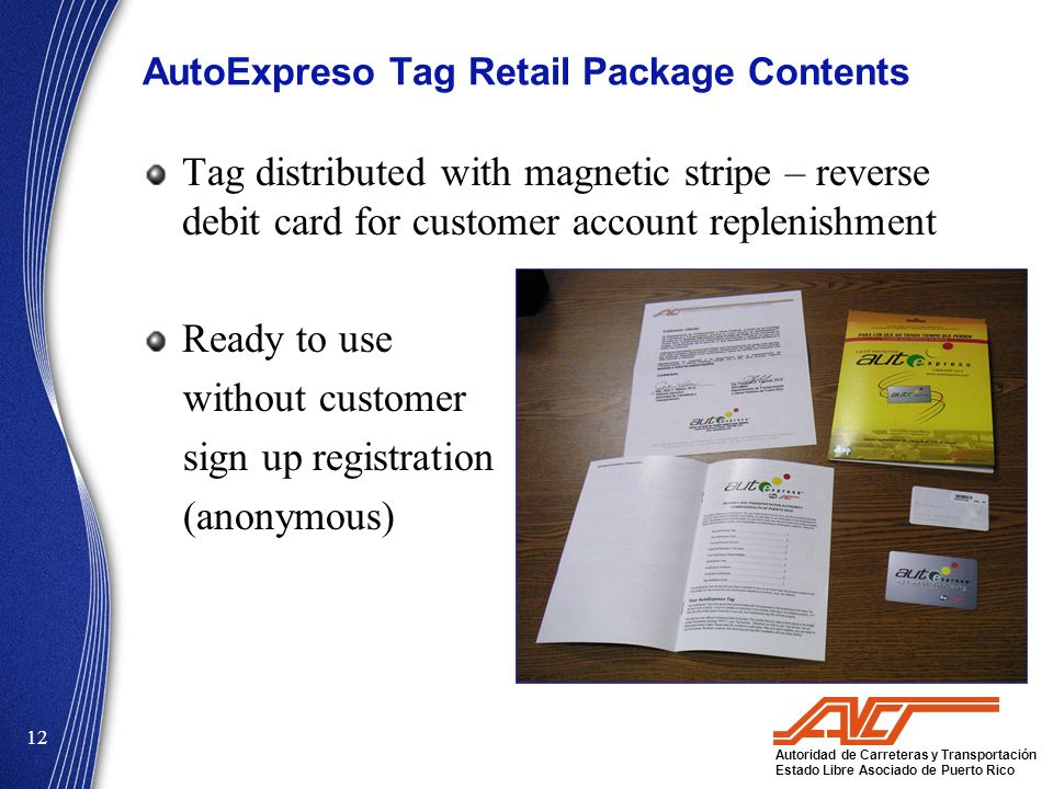 AutoExpreso Tag Retail Package Contents