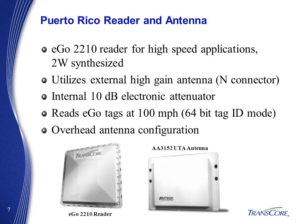 Puerto Rico Reader and Antenna
