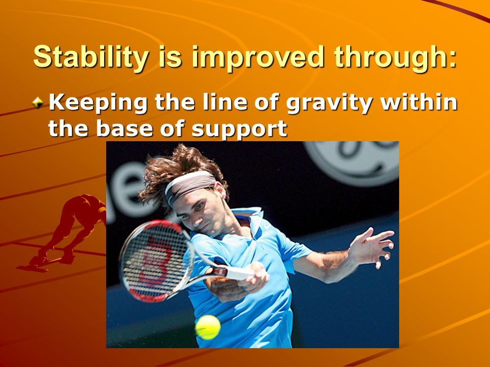 Stability is improved through: