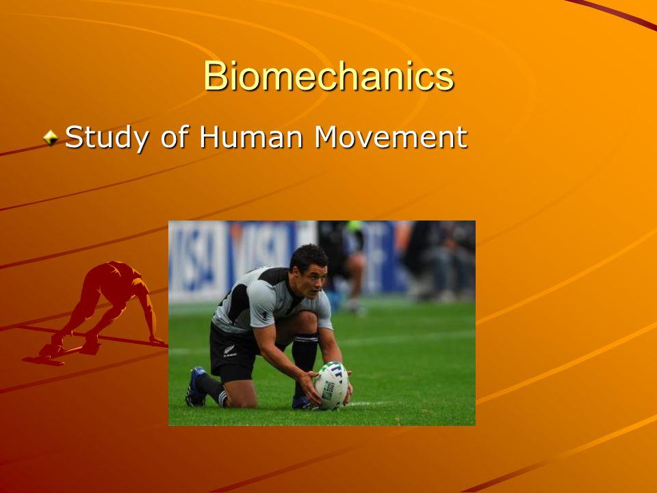 Biomechanics Study of Human Movement