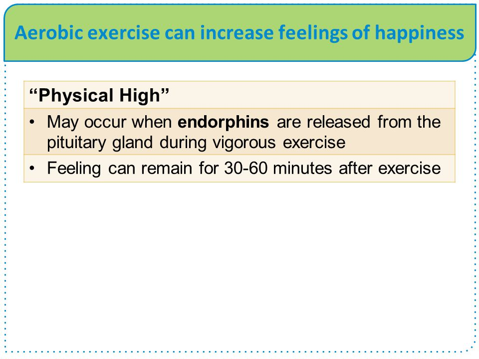 Aerobic exercise can increase feelings of happiness