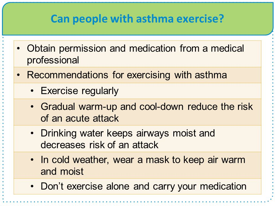Can people with asthma exercise