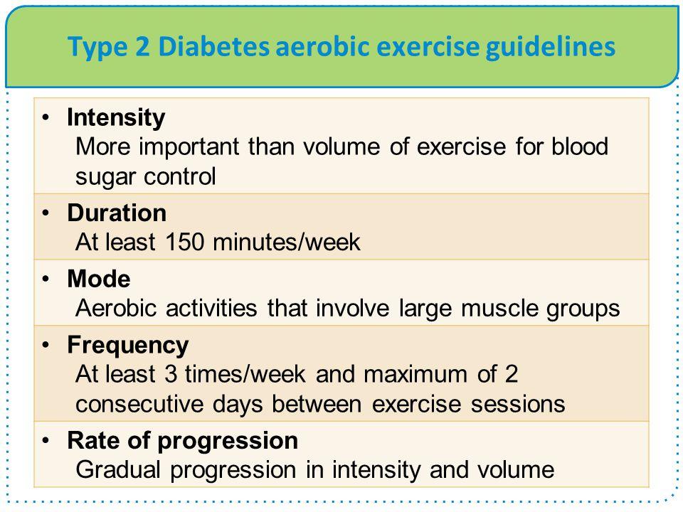 Type 2 Diabetes aerobic exercise guidelines