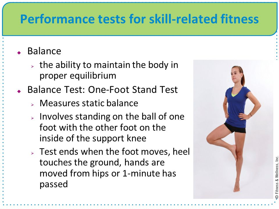 Performance tests for skill-related fitness