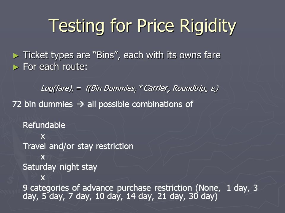 Testing for Price Rigidity