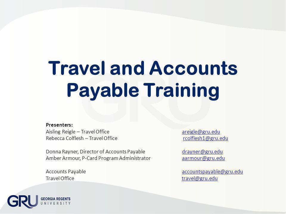 Travel and Accounts Payable Training