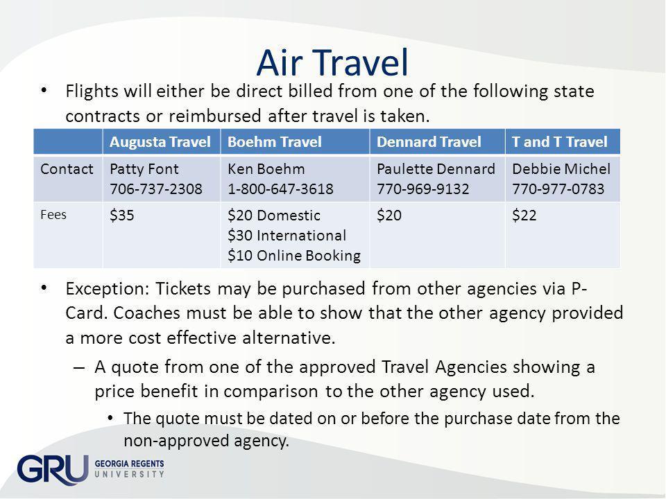 AP & Travel Training 2013 Air Travel.