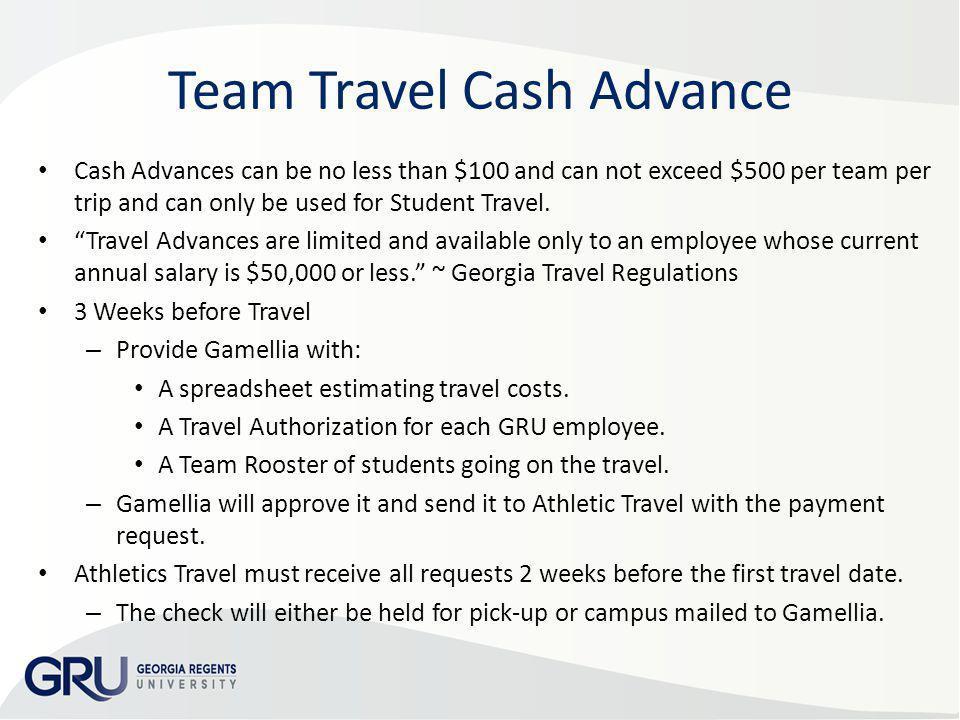 Team Travel Cash Advance