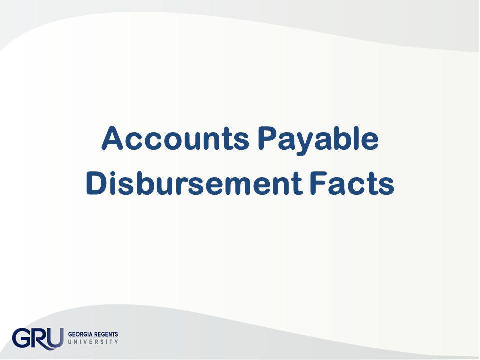Accounts Payable Disbursement Facts