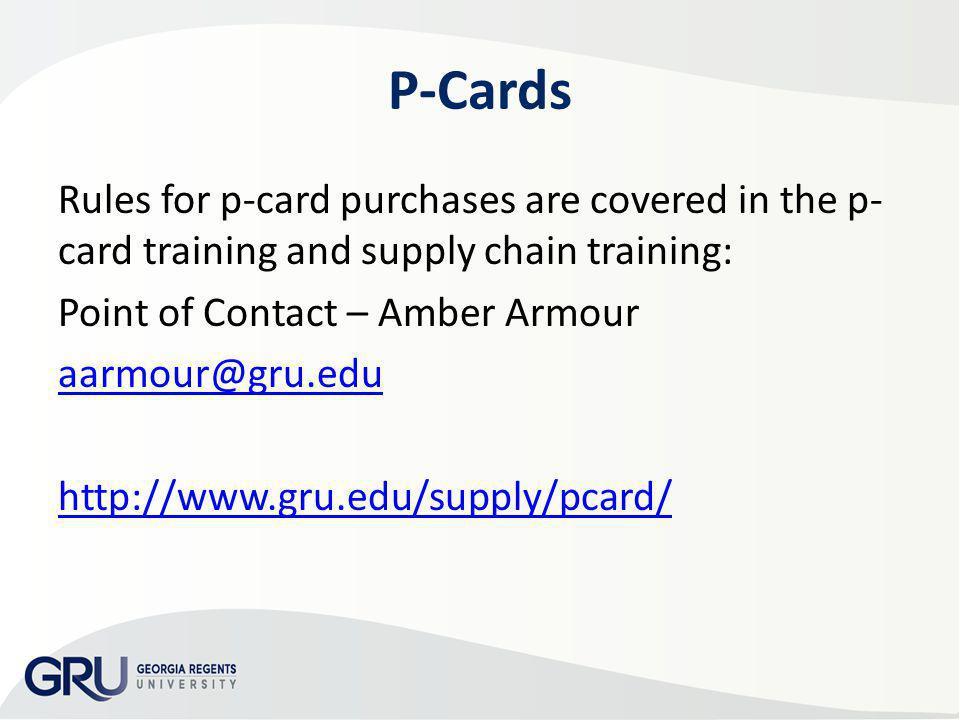 AP & Travel Training 2013 P-Cards.