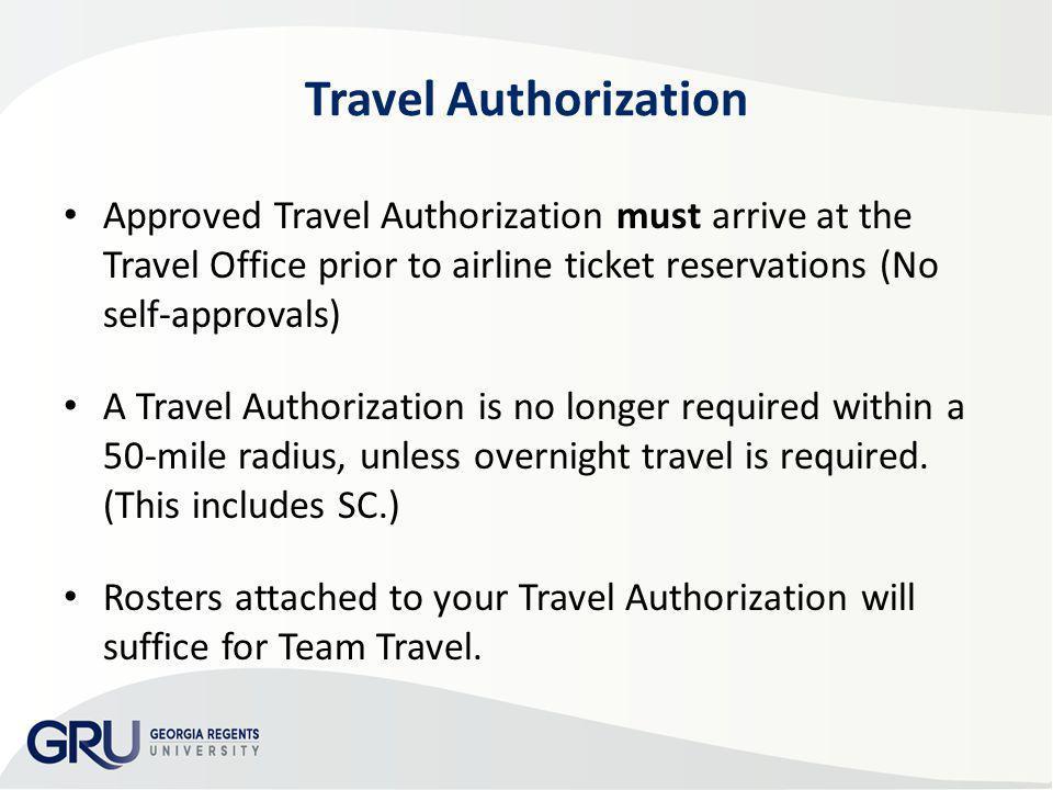 AP & Travel Training 2013 Travel Authorization.