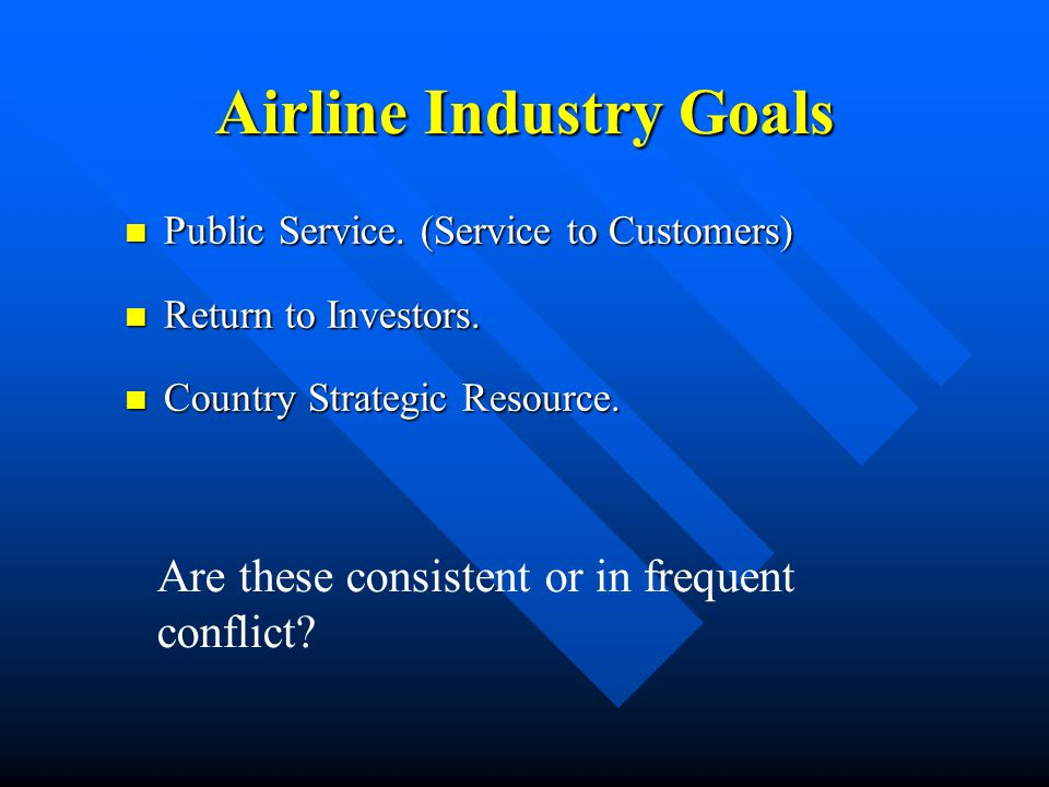 Airline Industry Goals