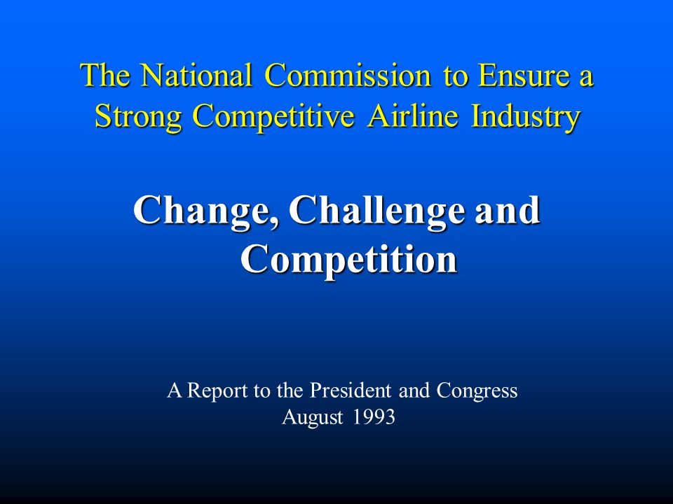 Change, Challenge and Competition