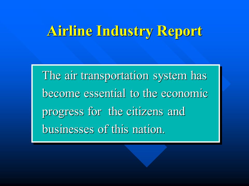 Airline Industry Report