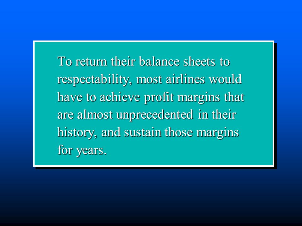 To return their balance sheets to