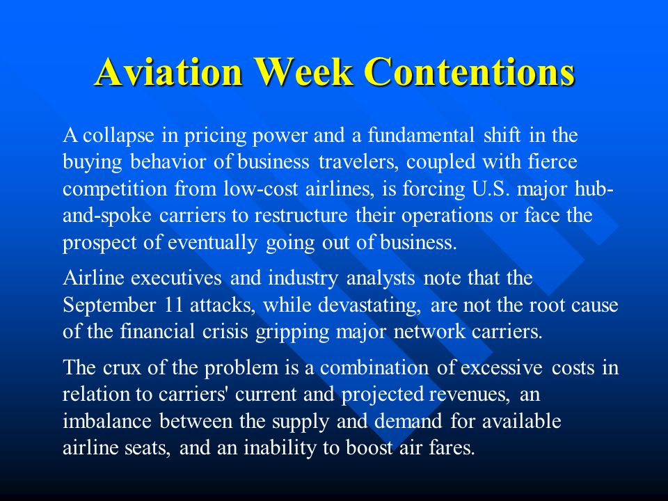 Aviation Week Contentions