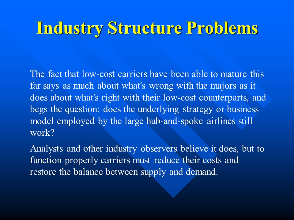 Industry Structure Problems