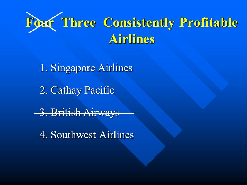 Four Three Consistently Profitable Airlines