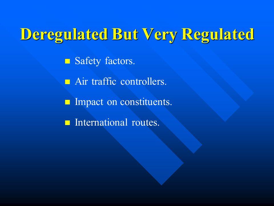 Deregulated But Very Regulated