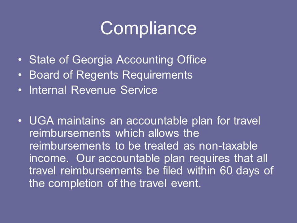 Compliance State of Georgia Accounting Office