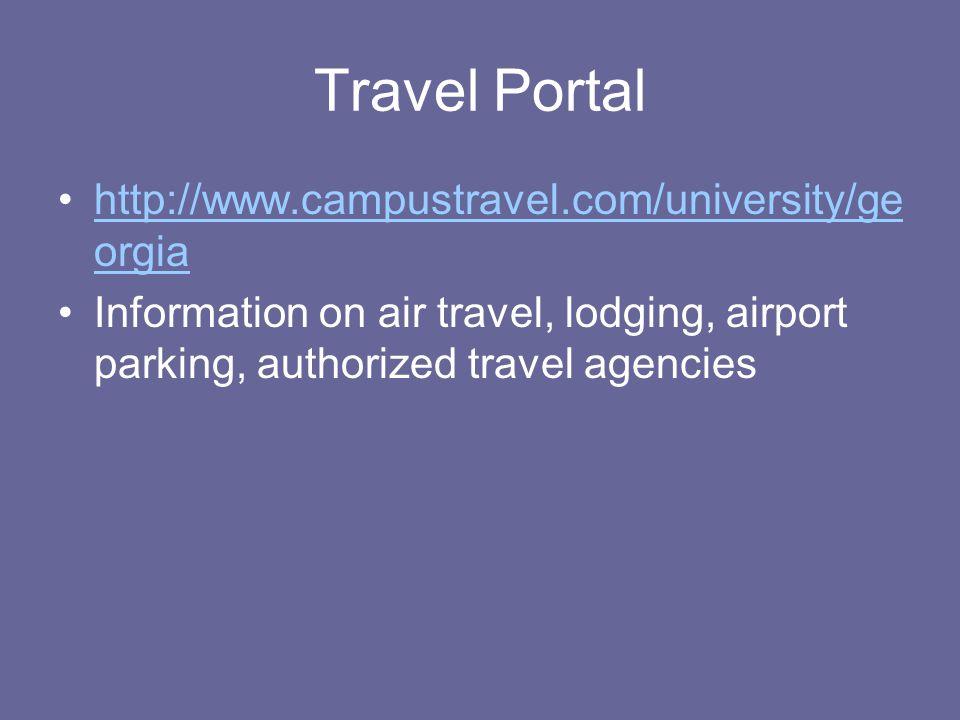 Travel Portal http://www.campustravel.com/university/georgia