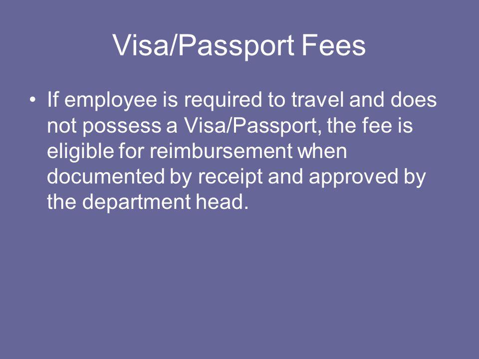 Visa/Passport Fees