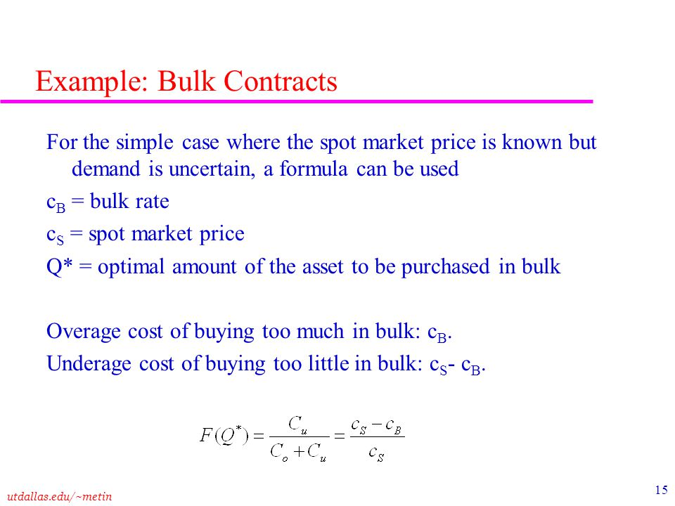 Example: Bulk Contracts