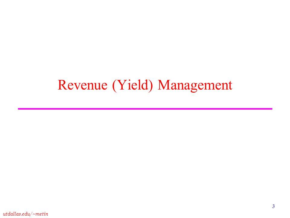 Revenue (Yield) Management