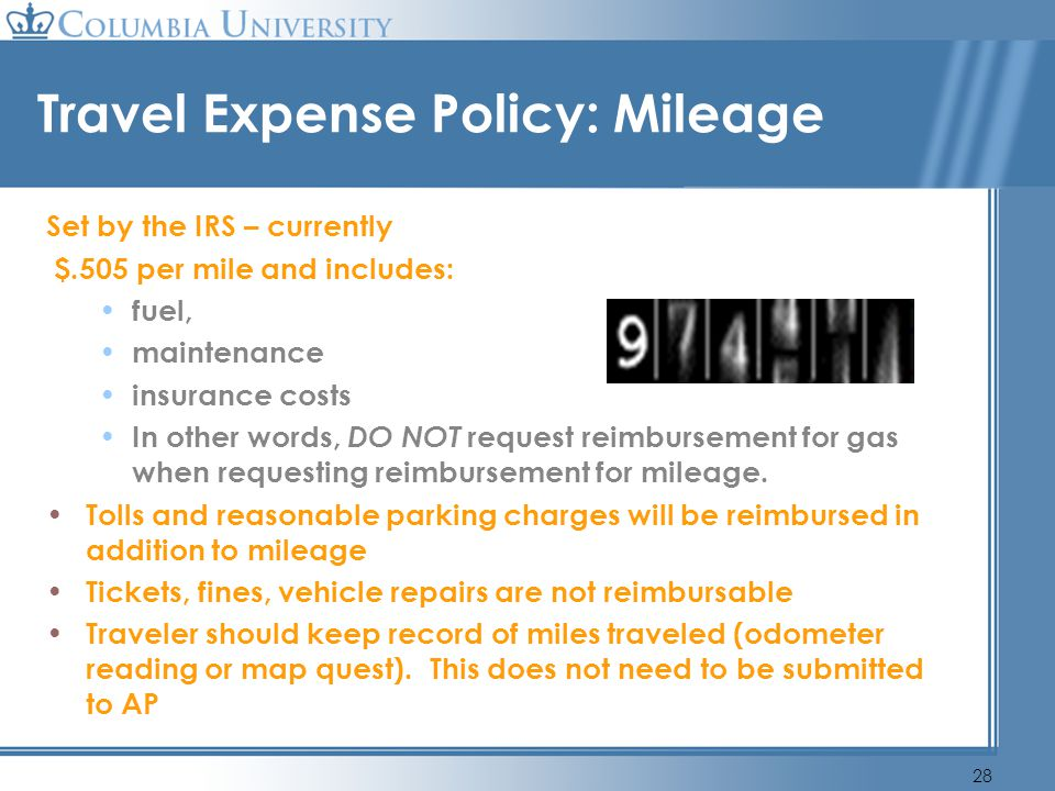 Travel Expense Policy: Mileage