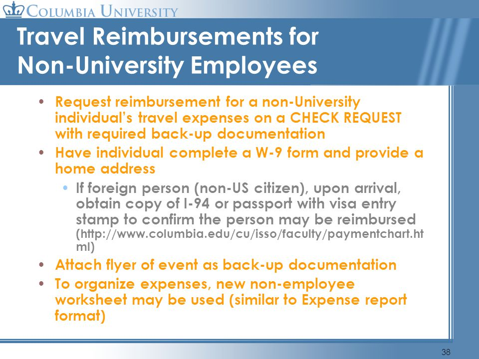 Travel Reimbursements for Non-University Employees