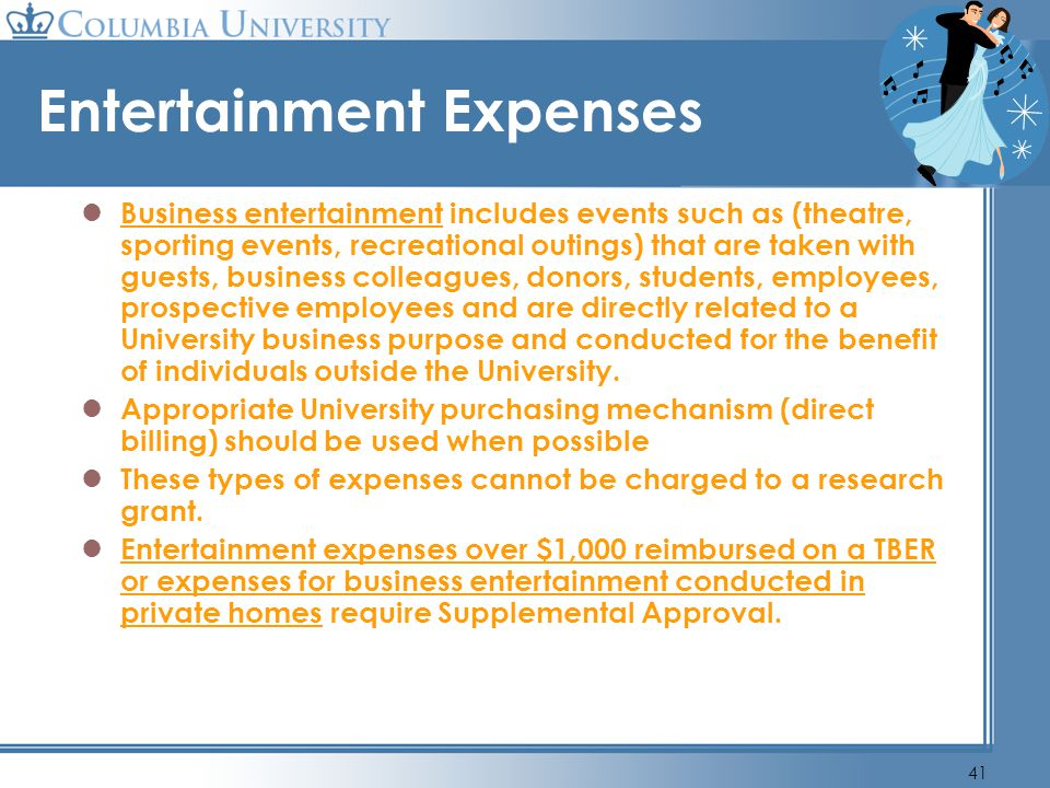 Entertainment Expenses