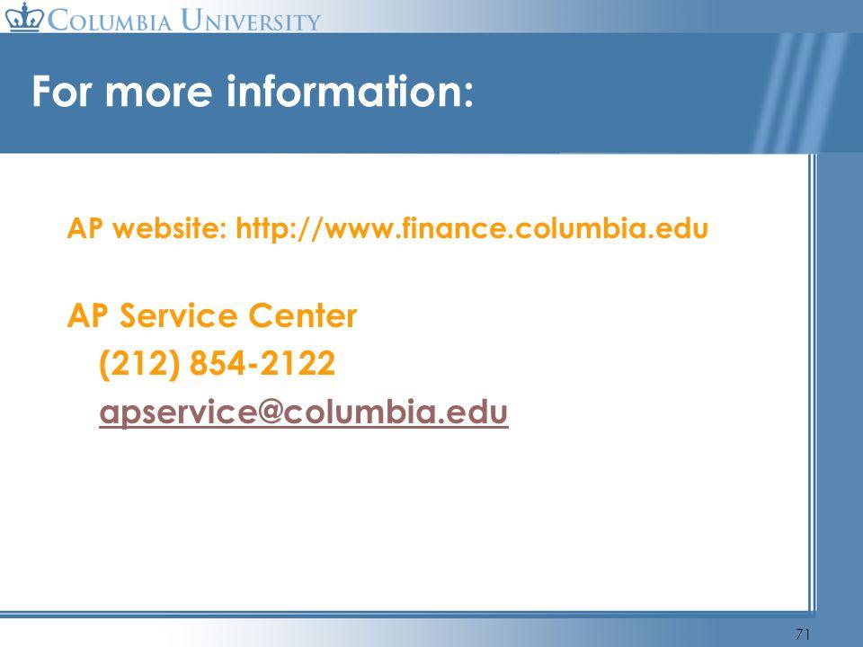 For more information: AP Service Center (212) 854-2122