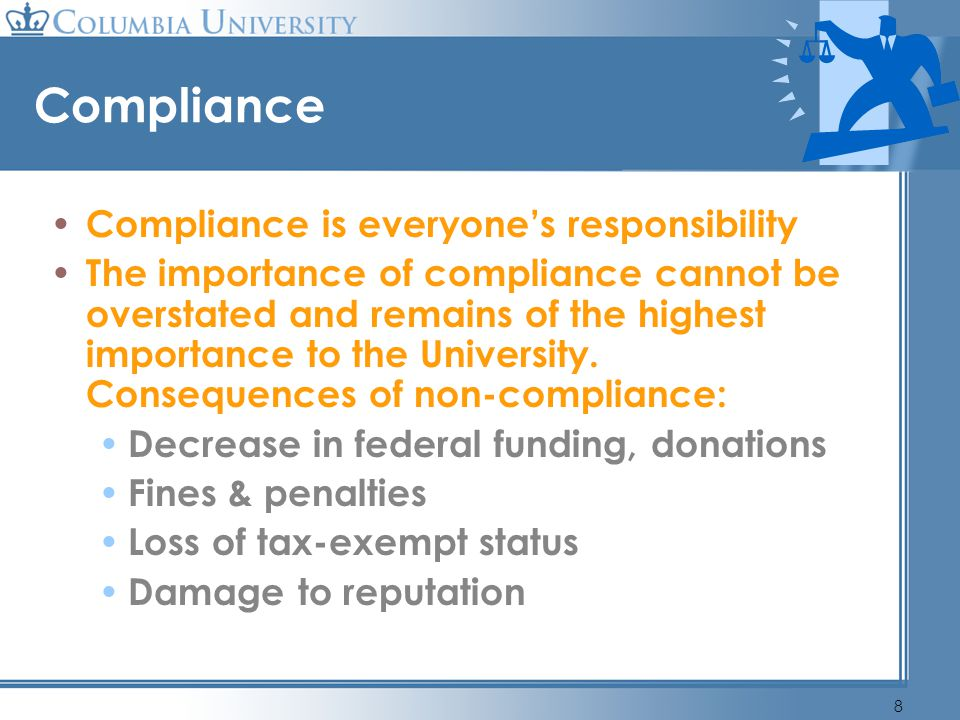 Compliance Compliance is everyone's responsibility