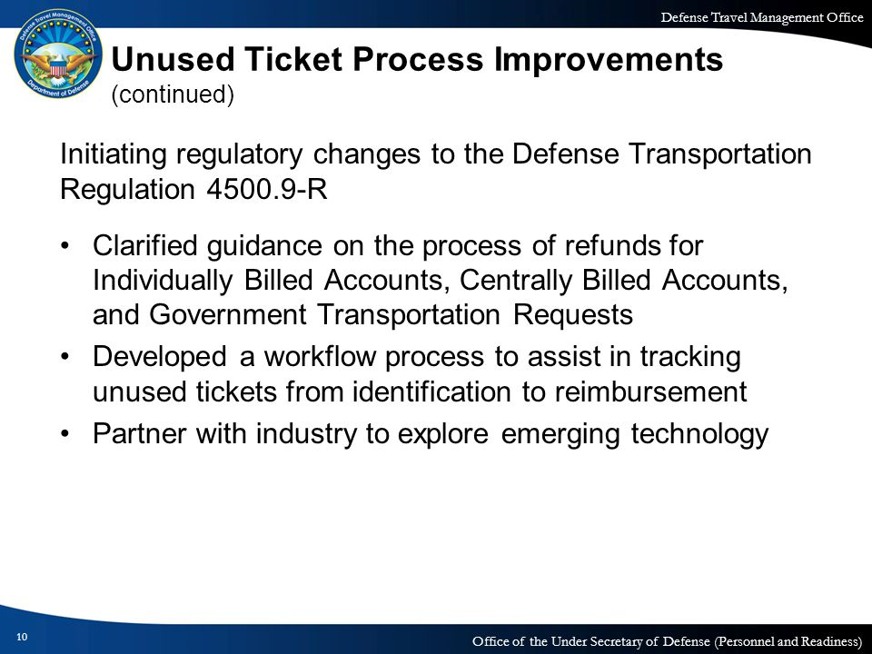 Unused Ticket Process Improvements (continued)