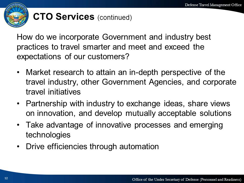 CTO Services (continued)