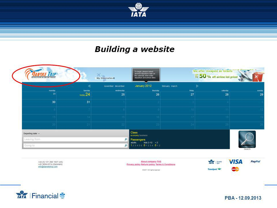 Building a website PBA - 12.09.2013