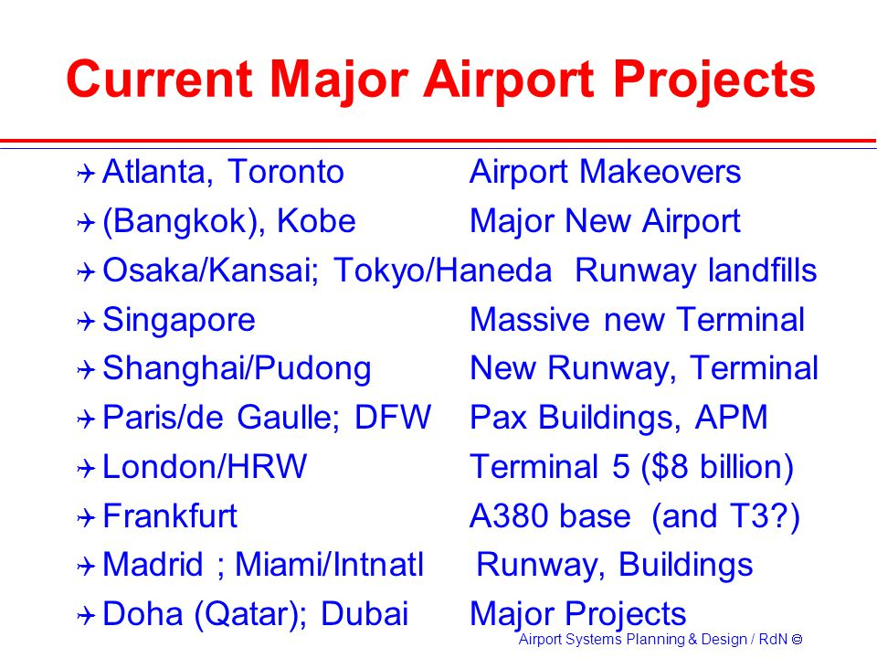 Current Major Airport Projects