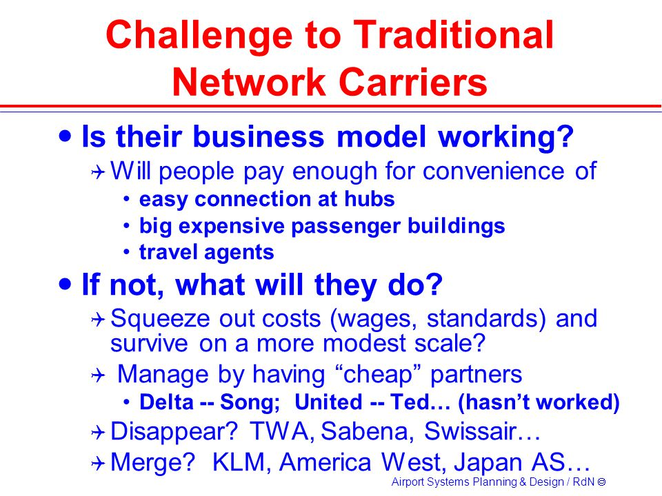 Challenge to Traditional Network Carriers
