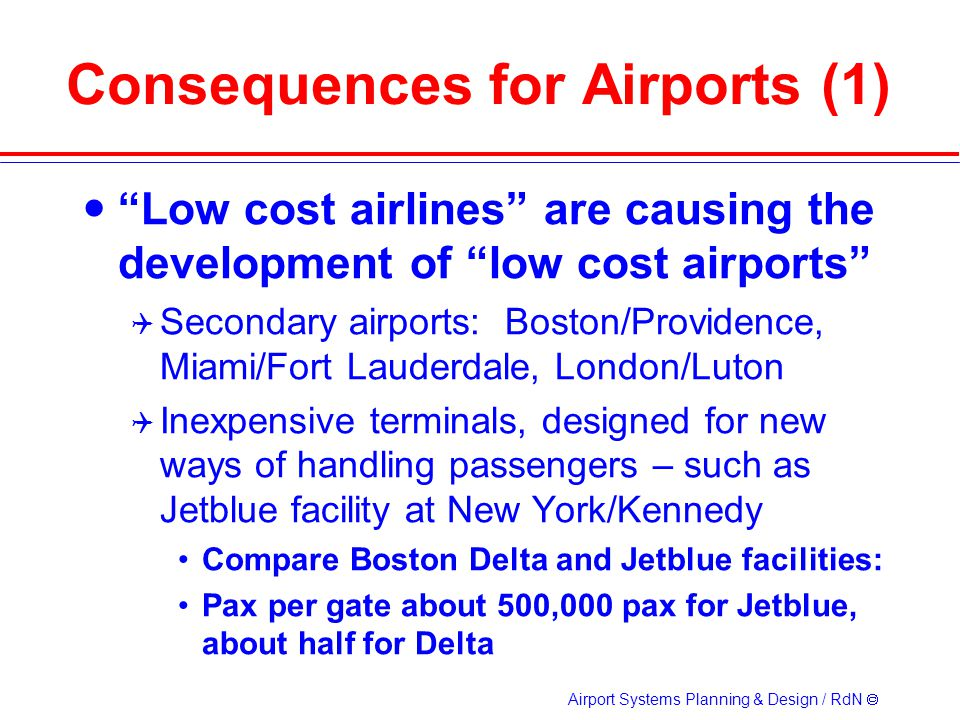 Consequences for Airports (1)