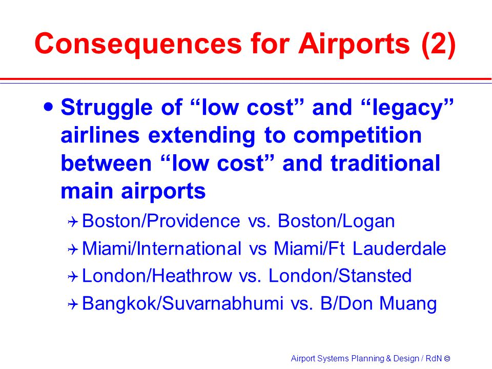 Consequences for Airports (2)