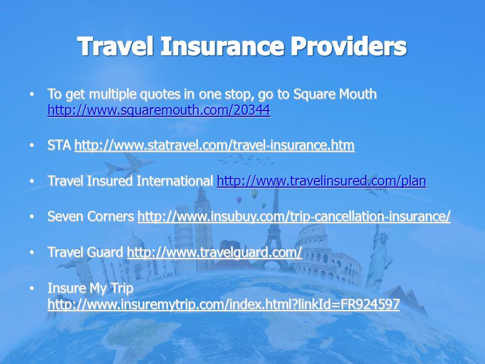 Travel Insurance Providers