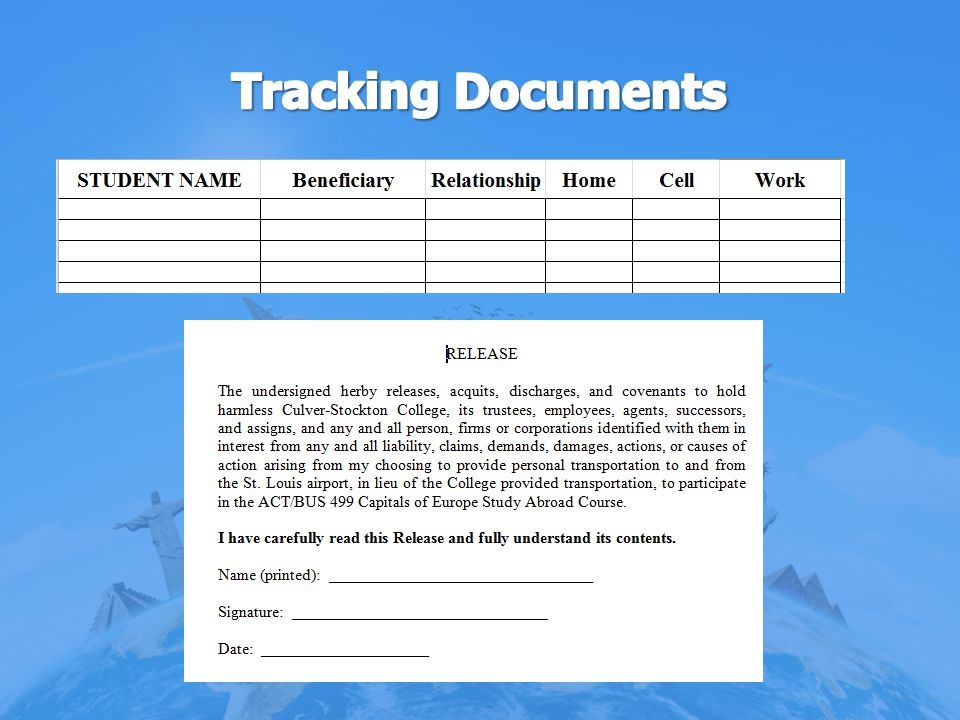 Tracking Documents