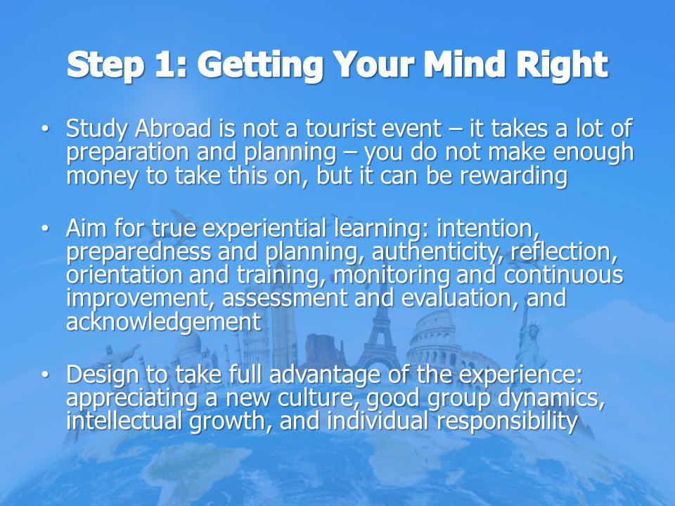 Step 1: Getting Your Mind Right