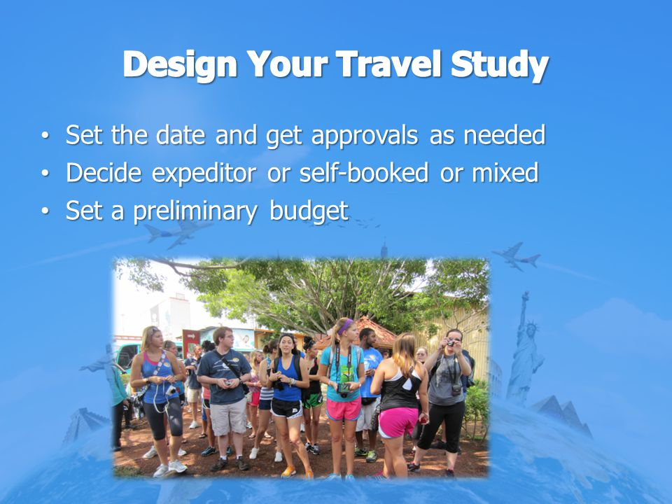 Design Your Travel Study