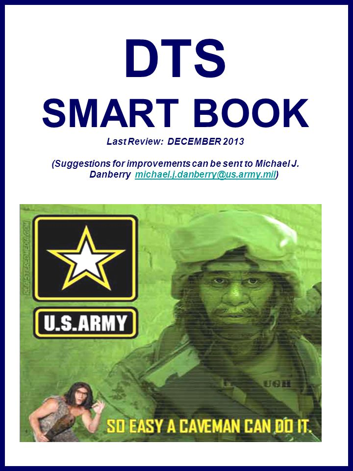 DTS SMART BOOK Last Review: DECEMBER 2013