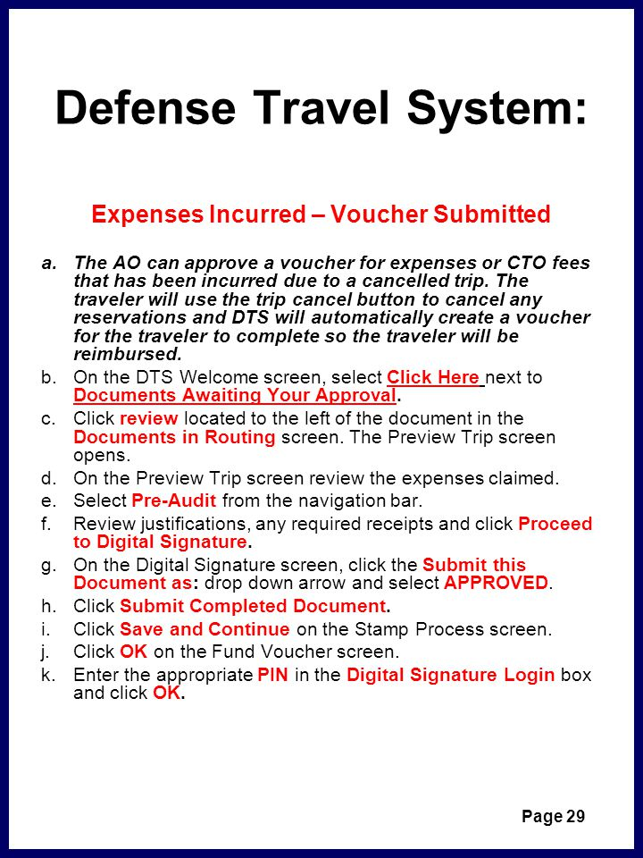 Defense Travel System: