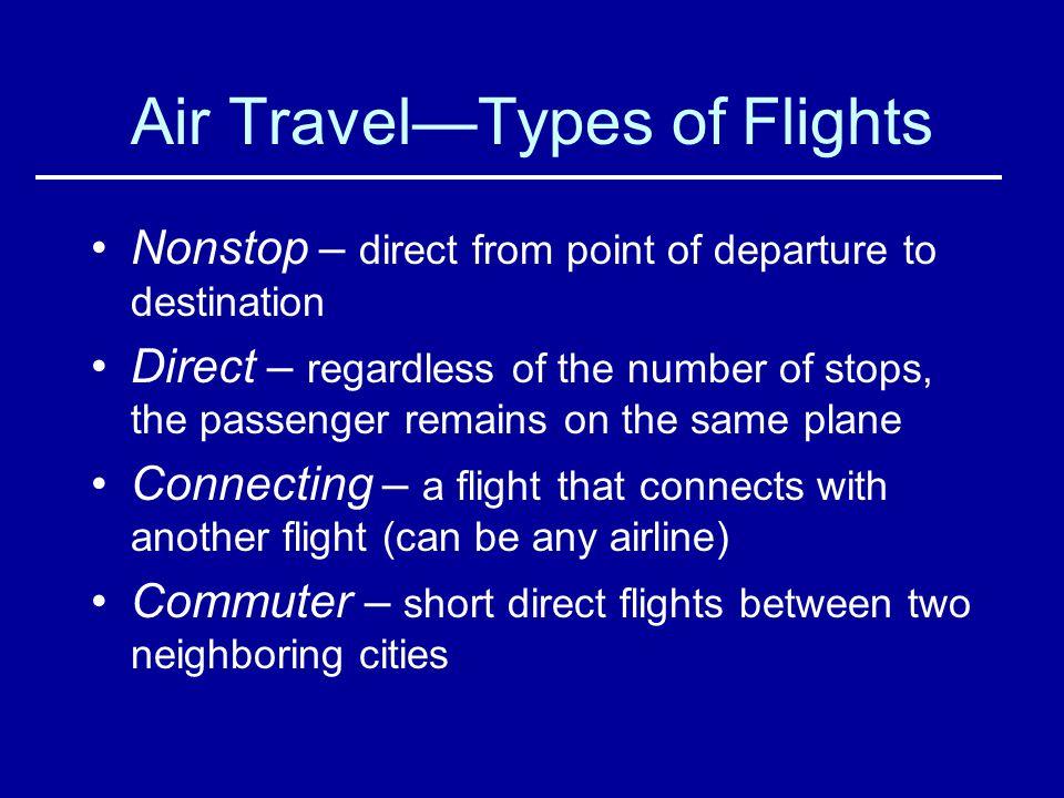 Air Travel—Types of Flights