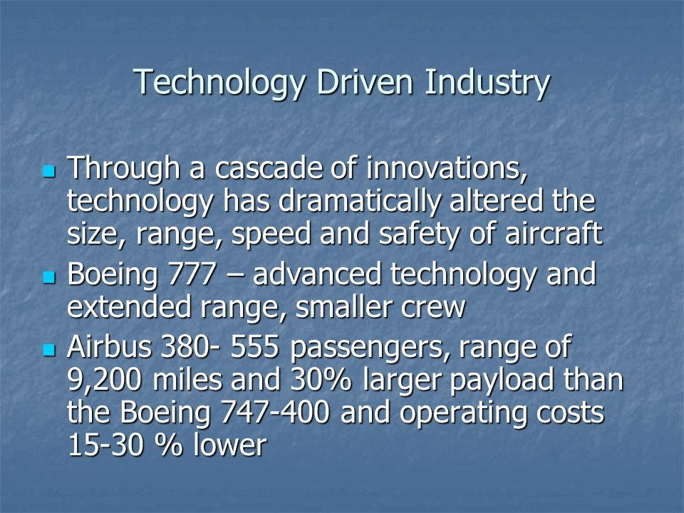 Technology Driven Industry