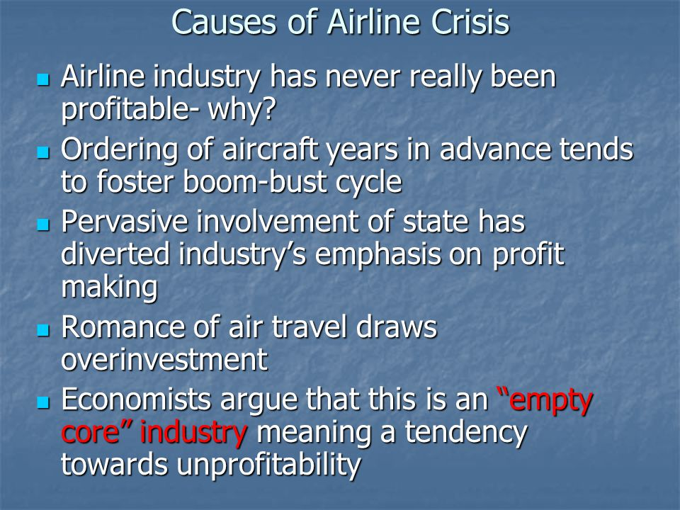 Causes of Airline Crisis